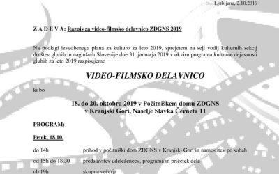 Filmska delavnica 2019-razpis