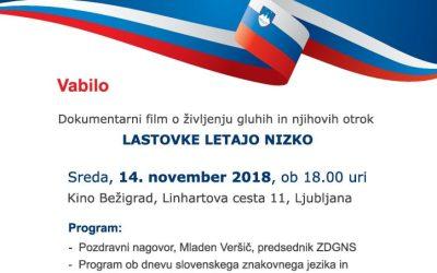14. 11. 2018 Dan Slovenskega znakovnega jezika Ljubljana