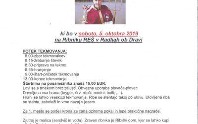 Vabilo – ribiški car 2019