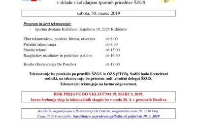30. 3. 2019 Vabilo na DP v odbojki – Kidričevo